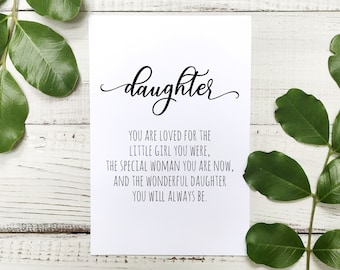 Daughter Birthday Card DIGITAL DOWNLOAD Printable