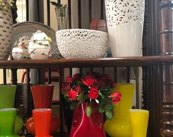 Vases, in Murano glass, ideal for furniture and spare parts for Venetian mirrors and chandeliers , handmade