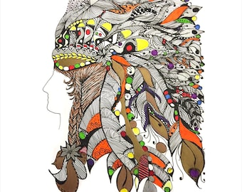 Girl in a Headdress