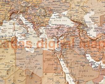 Canvas world map canvas antique vintage style map of the etsy world map canvas antique vintage style map of the world physical political world wall map sand stretchedlarge gumiabroncs Choice Image