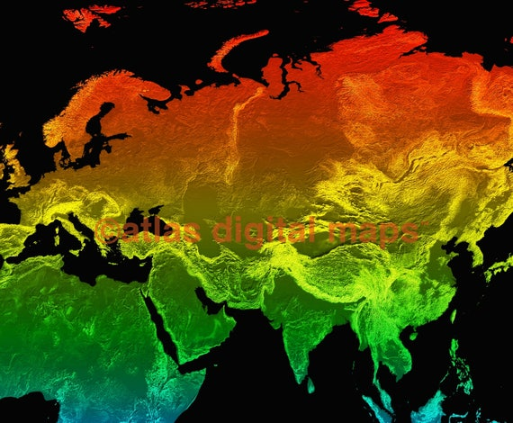 Rainbow World Map Canvas Designer Map Of The World Rainbow Etsy