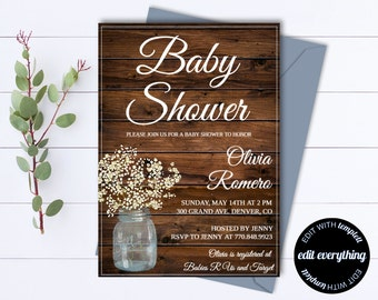 baby shower template etsy