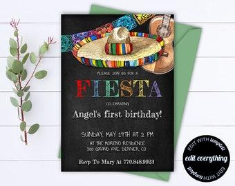 Mexican Invitation Etsy