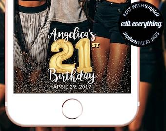 21st Birthday Snapchat Geofilter - Custom Geofilter - Snapchat Geofilter - Custom Snapchat Geofilter - 21st Birthday Filter - 21st Birthday