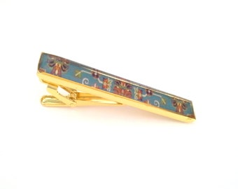 Men Jewelry Made in Canada Persian Style Persian Calligraphy Gift for Him Tie Pin Resin Art Antique Copper Men/'s Tie Clip