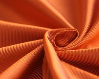 "100% Silk Fabric By the Half Yard 27"" wide fabric Orange Woven Silk Italian silk #122"
