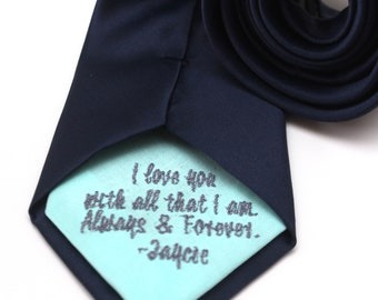 Custom personalized embroidery on neckties and bow ties
