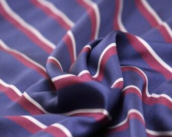 "Piece 14""L x 54""W 100% Silk Fabric Perpendicular Purple Striped fabric Woven Silk F010"