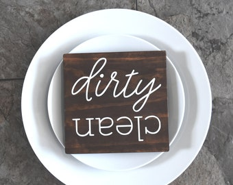 Clean & Dirty Dishwasher Wood Magnet * New Colors Added *