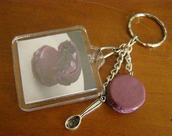 Keychain, cake, macaron