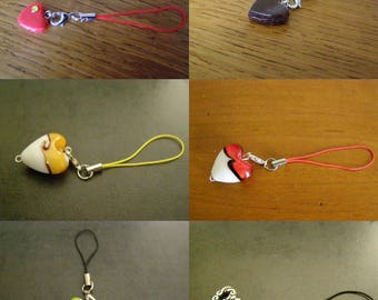 to choose from, phone charm, heart