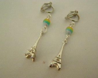 pair of clip, Eiffel Tower earrings