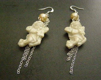 dangle earrings, Angel