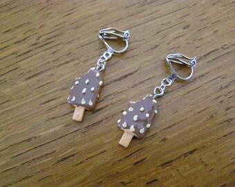 ice cream clip earrings