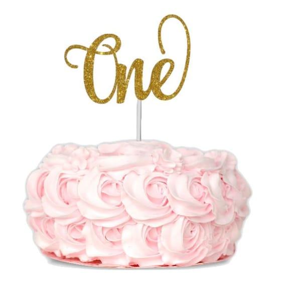 Amazing One Cake Topper First Birthday Cake Topper 1St Birthday Cake Etsy Birthday Cards Printable Inklcafe Filternl