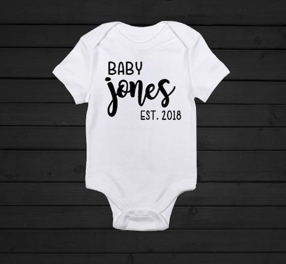 Bday Baby Shower Gift Custom Onesie Baby Gift Personalized OnesieT-Shirt : Name Rainbow Custom T-Shirt Heart Newborn Gift