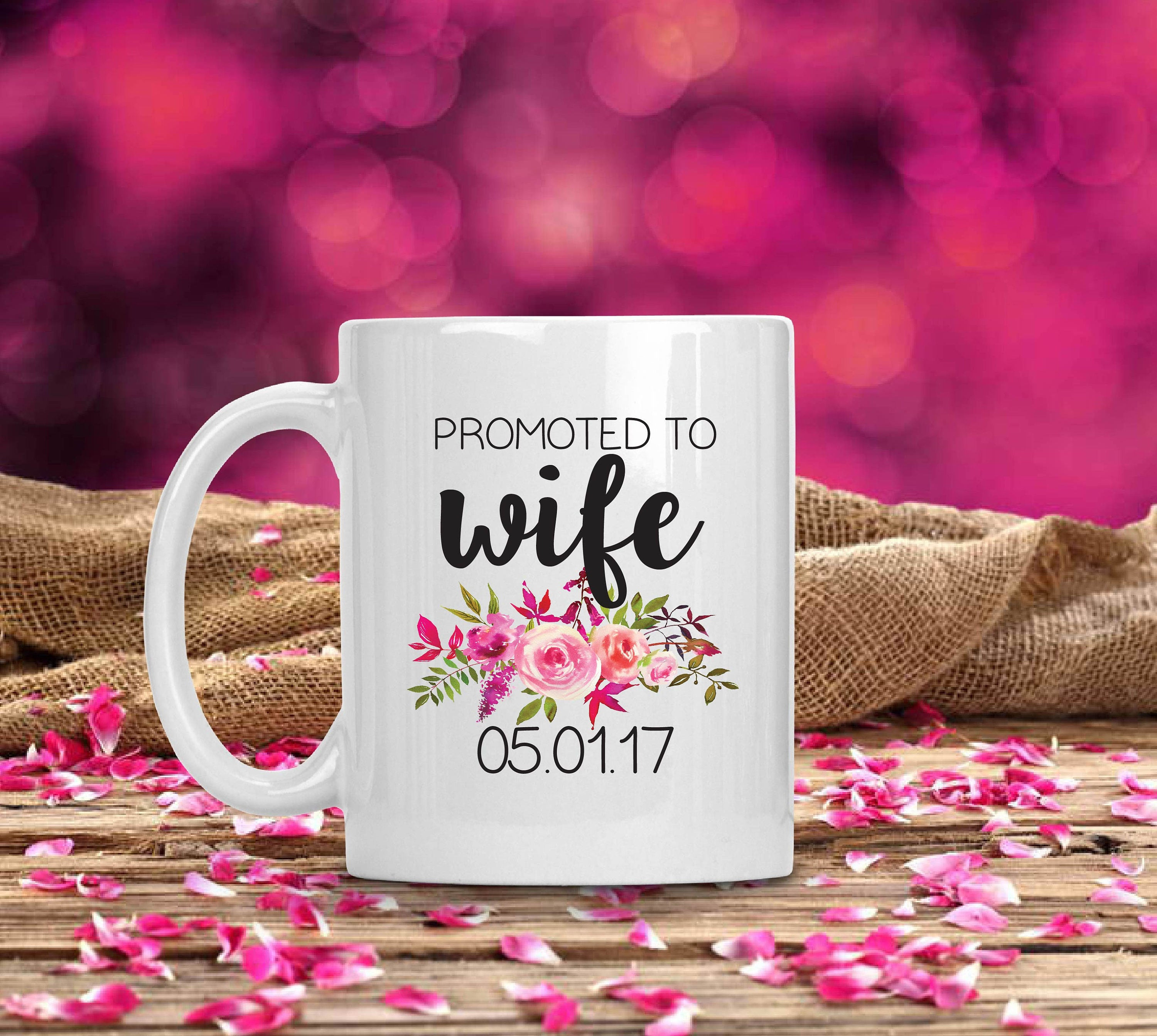 Promoted to Wife mug wifey mug newlywed mug wife mug coffee | Etsy