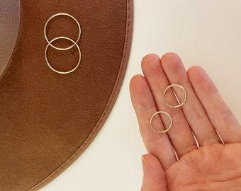 LARIN small endless HOOPS 14K GOLD filled/gold hoops/seattle jewelry/simple earrings/simple hoops/boho earrings/hypoallergenic earrings
