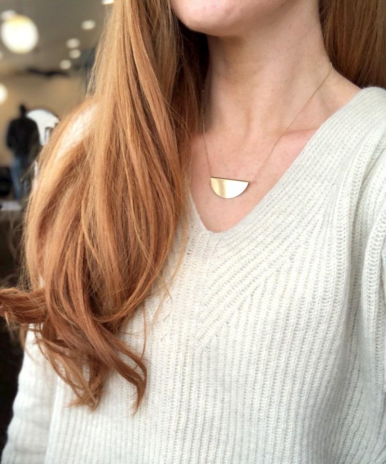 FELMAN large HALF MOON necklace/semi circle image 0