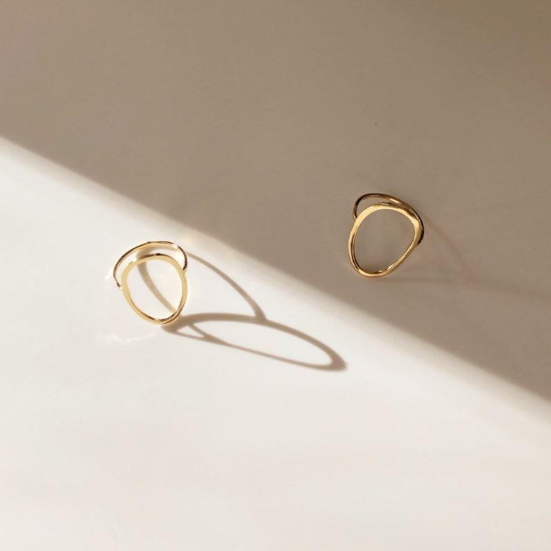 OSA minimalist OVAL RING/circle ring/seattle jewelry/modern image 0