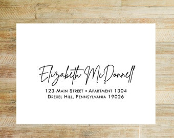 Envelope Addressing Service | Bridal Shower Invitations + Thank You Card Envelope Printing | Modern Calligraphy Layout | Set of 10