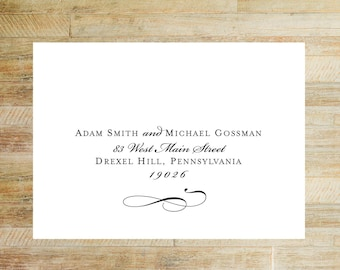 Envelope Addressing Service | Invitations + Thank You Card Envelope Printing | Elegant Typography Layout | Set of 10
