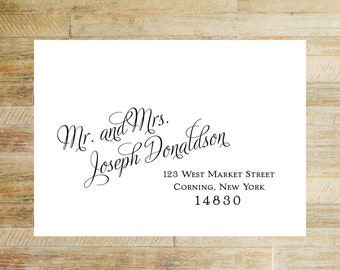 Envelope Addressing Service for Invitations | Thank You Card Envelope Printing | Digital Calligraphy | Large Name Format | Set of 10