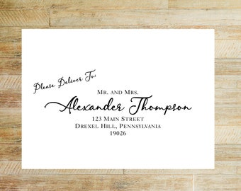 Envelope Addressing Service | Wedding Invitations + Thank You Card Envelope Printing | Please Deliver To Layout | Set of 10