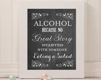 Funny Wedding Love Story Sign | 16 x 20 | Wedding Reception Sign | INSTANT DOWNLOAD