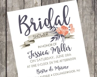 Floral Bridal Shower Invitation | Set of 10 | Girls Weekend | Bachelorette Party Invite | Fun Floral Shower | Girls Night Out | PRINTED