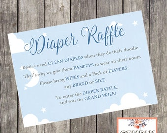 Baby Shower Diaper Raffle Card   INSTANT DOWNLOAD   Baby Boy Shower Printable