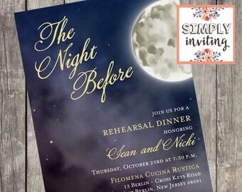 The Night Before Rehearsal Dinner Invitation | Set of 10 | Wedding Rehearsal Dinner Invitations | Grooms Dinner Invites | PRINTED
