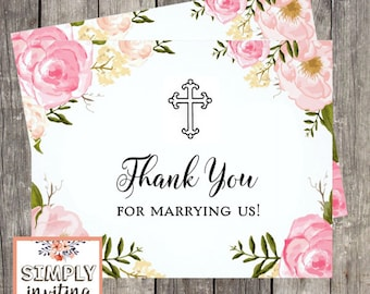 Wedding Officiant Thank You Card | Thank You For Marrying Us | Card for Ceremony Officiant | PRINTED