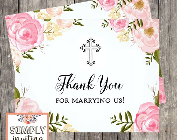 Thank You Card for Wedding Officiant | Thank You For Marrying Us | Card for Ceremony Officiant | PRINTED