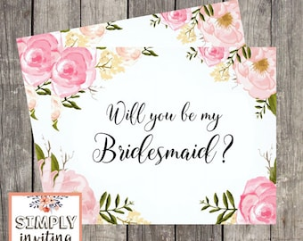 Will You Be My Bridesmaid Card / Card For Bridesmaid / Bridesmaid Proposal Card / Bridesmaid Request Card / Wedding Card Bridesmaid