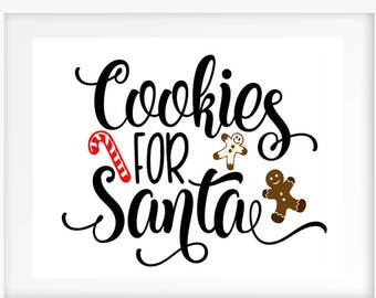 Cookies for Santa Print | INSTANT DOWNLOAD | 16 x 20 | Holiday Printable | Christmas Cookie Print