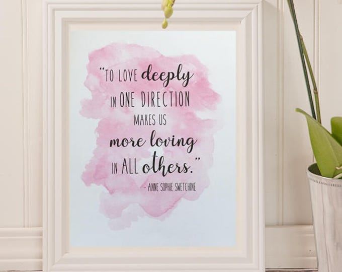 Anne Swetchine Watercolor Quote | 8 x 10 | INSTANT DOWNLOAD