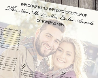 Wedding Photo Seating Chart Sign | Printable Digital File Wedding Sign