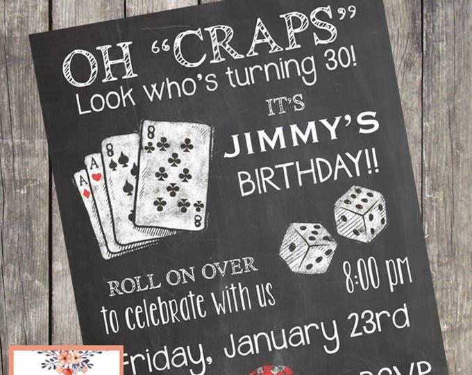 Casino Night Party Birthday Invitation | Game Night Party Invites | PRINTABLE FILE