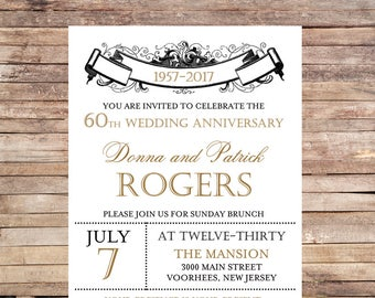 Vintage Party Invitation | Set of 10 | PRINTED