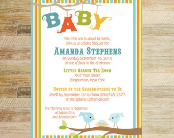 About to Hatch Baby Shower Invitations | PRINTABLE FILE