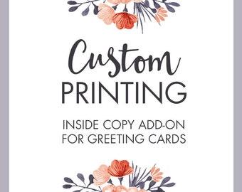 Greeting Card Inside Copy Add On | Custom Printing Service