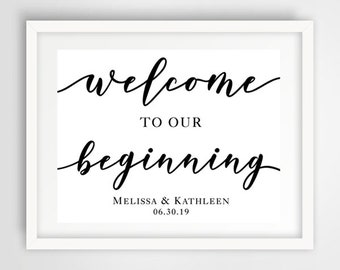 Wedding Welcome Ceremony Sign | 8 x 10 | PRINTED or PRINTABLE FILE