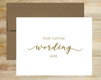 Your Custom Copy Card | Personalized Greeting Card | FRONT Only - BLANK Inside | PRINTED A2 Size
