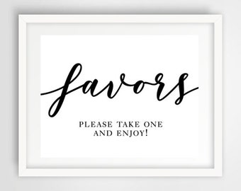 Wedding Favors Sign | 8 x 10 | Printable Wedding Reception Sign | INSTANT DOWNLOAD