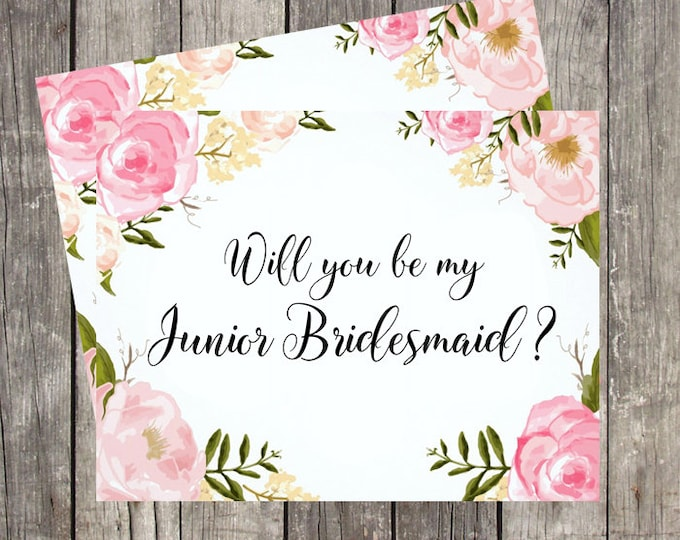 Will You Be My Junior Bridesmaid Card | Card For Junior Bridesmaid | Junior Bridesmaid Proposal Card | PRINTED