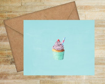 Cupcake Blank Notes | Set of 6 | Stationery Cards | Gifts for Her | Unique Shower Gifts | Fun Birthday Gift | Whimsical Note Cards | PRINTED