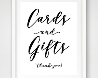 Cards and Gifts Wedding Sign | 8 x 10 | Wedding Reception Sign | INSTANT DOWNLOAD