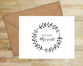 Moving Announcement Cards | Set of 10 | New Address Cards | Our New Home Greeting Cards | PRINTED