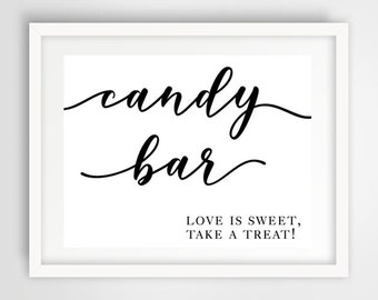Candy Bar Wedding Favor Sign | 8 x 10 | Wedding Reception Sign | INSTANT DOWNLOAD